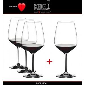 Набор бокалов для красных вин Cabernet и Merlot, 4 шт, объем 800 мл, машинная выдувка, Heart to Heart, RIEDEL, арт. 87578, фото 2