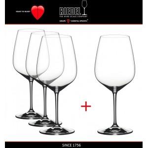 Набор бокалов для красных вин Cabernet и Merlot, 4 шт, объем 800 мл, машинная выдувка, Heart to Heart, RIEDEL, арт. 87578, фото 4