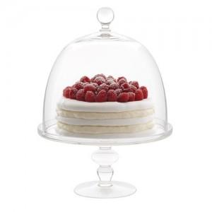 Подставка для торта, десерта с крышкой, D 19 см, H 29, стекло, ручная работа, Luigi Bormioli, Италия, арт. 36345, фото 2