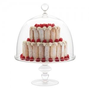 Подставка для торта, десерта с крышкой, D 19 см, H 29, стекло, ручная работа, Luigi Bormioli, Италия, арт. 36345, фото 3