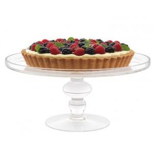 Подставка для торта, пирога на ножке, D 19 см, H 29 см, стекло, ручная работа, Luigi Bormioli, Италия, арт. 36348, фото 2