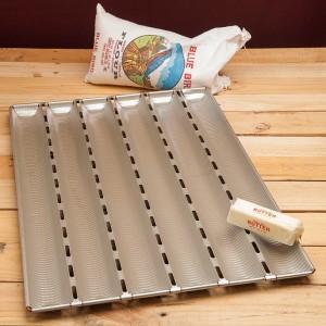 Форма для выпечки багетов, 5 ячеек, L 60 см, W 40 см, алюминий, MATFER, Франция, арт. 33999, фото 2