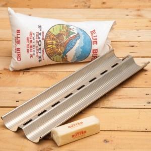 Форма для выпечки багетов, 2 ячейки, D 5,5 см, L 45 см, W 13,5 см, алюминий, MATFER, Франция, арт. 34184, фото 2