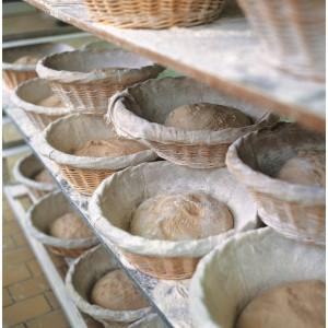 Корзина для расстойки хлеба с чехлом, D 28,5 см, H 13 см,  лоза ивовая, MATFER, Франция, арт. 5452, фото 4