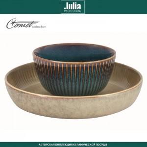 Блюдо-тарелка COMET морская волна, ручная работа, D 23 см, by Julia Vysotskaya, арт. 92473, фото 3