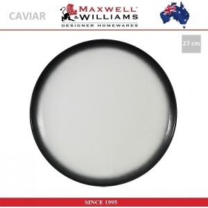 Обеденная тарелка Caviar цвет гранит, 27 см, фарфор, Maxwell & Williams, арт. 92481, фото 1