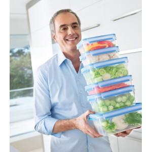 Герметичный контейнер для хранения CLIP & CLOSE, прямоугольный, 3,7 л, L 26,3 см, W 19,5 см, H 11 см, пищевой пластик, Emsa, Германия, арт. 11790, фото 2