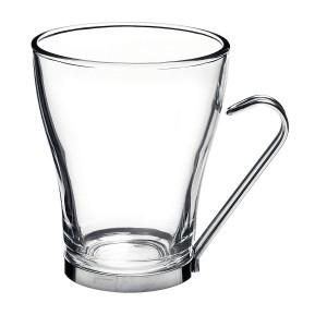 Кружка для кофе, 225 мл, стекло, сталь, Bormioli Rocco, Италия, арт. 3832, фото 1