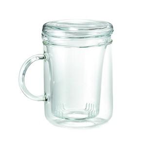 Кружка чайная с крышкой «Cyclo», 410 мл, стекло термостойкое, Trendglas, Венгрия, арт. 9920, фото 1