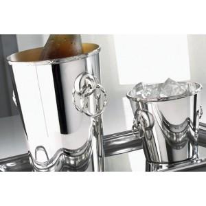 Емкость для льда, D 13,5 см, посеребрение, Sambonet, Италия, арт. 30482, фото 2