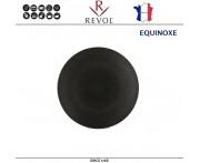 Десертная тарелка EQUINOXE, D 16 см, керамика ручной работы, черный, REVOL, Франция