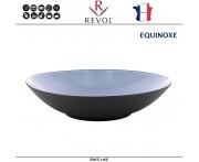 Глубокая тарелка EQUINOXE, D 24 см, 1000 мл, керамика ручной работы, синий, REVOL, Франция