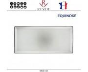 Блюдо EQUINOXE для закусок, L 32.5 см, W 15 см, керамика ручной работы, серый, REVOL, Франция