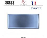 Блюдо EQUINOXE для закусок, L 32.5 см, W 15 см, керамика ручной работы, синий, REVOL, Франция