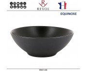 Глубокая миска EQUINOXE, D 15 см, 350 мл, керамика ручной работы, черный, REVOL, Франция
