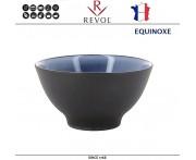 Глубокая миска EQUINOXE для риса, каши, D 12 см, керамика ручной работы, синий, REVOL, Франция