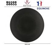 Блюдо-тарелка EQUINOXE, D 26 см, керамика ручной работы, черный, REVOL, Франция