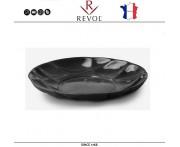 Глубокая тарелка SUCCESSION, D 23 см, керамика ручной работы, черный, REVOL, Франция