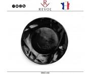 Десертная тарелка SUCCESSION, D 21 см, керамика ручной работы, черный, REVOL, Франция