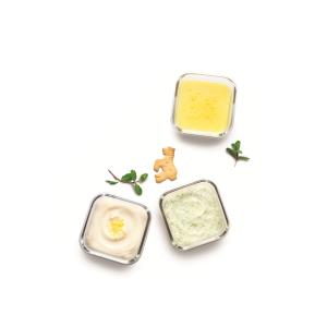 Набор детских пищевых контейнеров, круглые, 3 шт по 165 мл, стекло, GlassLock Yum Yum, США - Корея, арт. 11127, фото 5