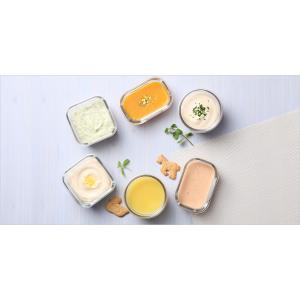Набор для детей: пищевые контейнеры с ложкой, 8 шт, жаропрочное стекло, розовый цвет, GlassLock, США - Корея, арт. 11125, фото 2
