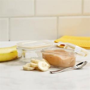 Набор для детей: пищевые контейнеры с ложкой, 8 шт, жаропрочное стекло, розовый цвет, GlassLock, США - Корея, арт. 11125, фото 7