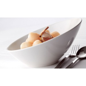 Блюдце со скошенным краем «Monaco White», D 11,5 см, фарфор, Steelite, Великобритания, арт. 9092, фото 5