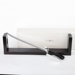 Сабля для шампанского подарочная, сталь, черный рог буйвола, DEL BEN, Италия, арт. 874, фото 2