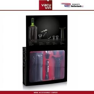 Большой набор винных аксессуаров ESSENTIALS черный, 6 предметов, Vacu Vin, Нидерланды, арт. 90914, фото 2