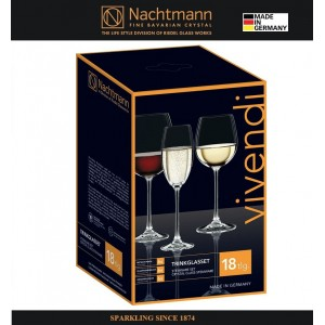 Большой набор бокалов VIVENDI 18 предметов: 6 для красного, 6 для белого вина, 6 для шампанского, Nachtmann, Германия, арт. 16372, фото 3
