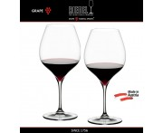 Бокалы для красных вин Pinot Noir, Nebbilolo, 2 шт, объем 700 мл, ручная выдувка, GRAPE, RIEDEL