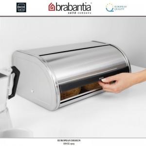Хлебница ROLL Top с крышкой-слайдером, L 44.5 см, матовая сталь, Brabantia, Бельгия, арт. 40424, фото 3
