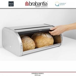 Хлебница ROLL Top с крышкой-слайдером, L 44.5 см, матовая сталь, Brabantia, Бельгия, арт. 40424, фото 4