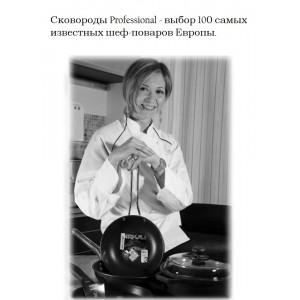Сковорода глубокая, D 32 см, H 7 см, алюминий литой, покрытие PLATINUM PLUS®, серия Professional, Risoli, Италия, арт. 55118, фото 2