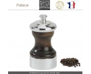 Мельница Palace дерево-серебро для перца, H 10 см, PEUGEOT, Франция