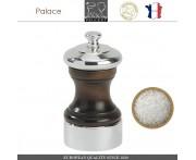 Мельница Palace дерево-серебро для соли, H 10 см, PEUGEOT, Франция