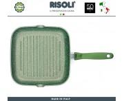 Сковорода-гриль Dr.Green, L 26 см, алюминий литой, антипригарное покрытие GREENSTONE®, Risoli, Италия