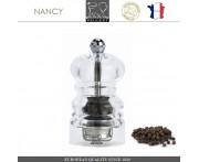 Мельница NANCY для перца, H 9 см, акрил прозрачный, PEUGEOT, Франция