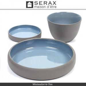 Блюдо-салатник DUSK Bleu, D 12 см, H 2 см, керамика ручной работы, SERAX, Бельгия, арт. 87164, фото 4