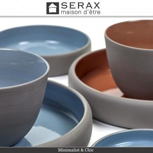 Блюдо-салатник DUSK Bleu, D 12 см, H 2 см, керамика ручной работы, SERAX, Бельгия, арт. 87164, фото 2
