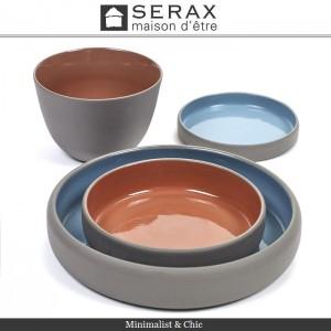 Блюдо-салатник DUSK Bleu, D 12 см, H 2 см, керамика ручной работы, SERAX, Бельгия, арт. 87164, фото 3