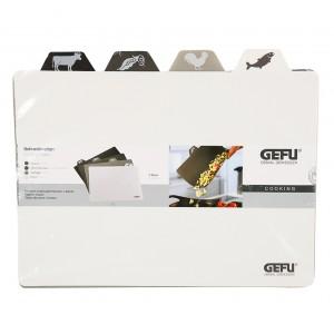 Набор разделочных листов по типу продукта, 4 шт, L 38 см, W 31 см, пищевой пластик, GEFU, Германия, арт. 11000, фото 3