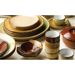 Тарелка мелкая с узором, L 15,5 см, фарфор, серия Terramesa бежевый, Steelite, Великобритания, арт. 30637, фото 3