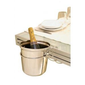 Настольный держатель для ведра под шампанское, D 19,5 см, H 16 см, сталь нержавеющая, ILSA, Италия, арт. 30596, фото 2