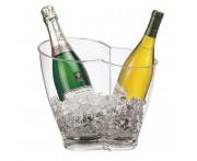 Ведро для охлаждения шампанского и вина, на 2 бутылки, 5,4 л, L 30 см, D 18,5 см, H 26,5 см, акрил, Paderno, Италия