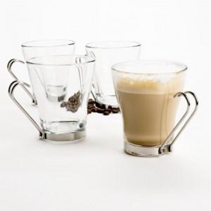 Кружка для кофе, 225 мл, стекло, сталь, Bormioli Rocco, Италия, арт. 3832, фото 4