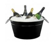 Ведро для шампанского на 4 бутылки, 13,8 л, H 23 см, L 40 см, W 27,5 см, сталь окрашенная, ILSA, Италия