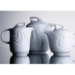 Чайник  с крышкой  «Melodie», 1150 мл, D 22,9 см, H 15,7 см, W 21,5 см, фарфор столовый, G.Benedikt, Чехия, арт. 7923, фото 8