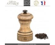 Мельница Antique для перца, H 10 см, состаренное дерево, сталь, PEUGEOT, Франция