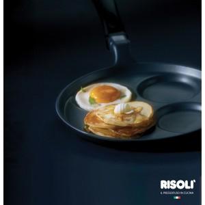 Сковорода для оладий, блинчиков, яиц, 4 отделения, D 25 см, индукционное дно, литой алюминий, антипригарное керамическое покрытие, Risoli, Италия, арт. 33182, фото 2